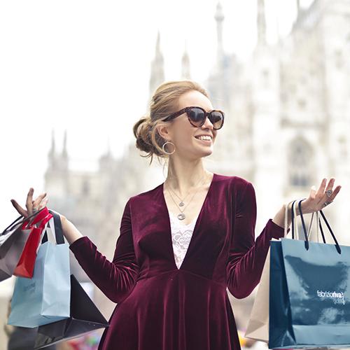 woman-wearing-maroon-velvet-plunge-neck-long-sleeved-dress-972995